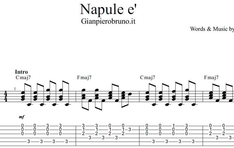 Napul 232 Pino Daniele Spartito Per Chitarra